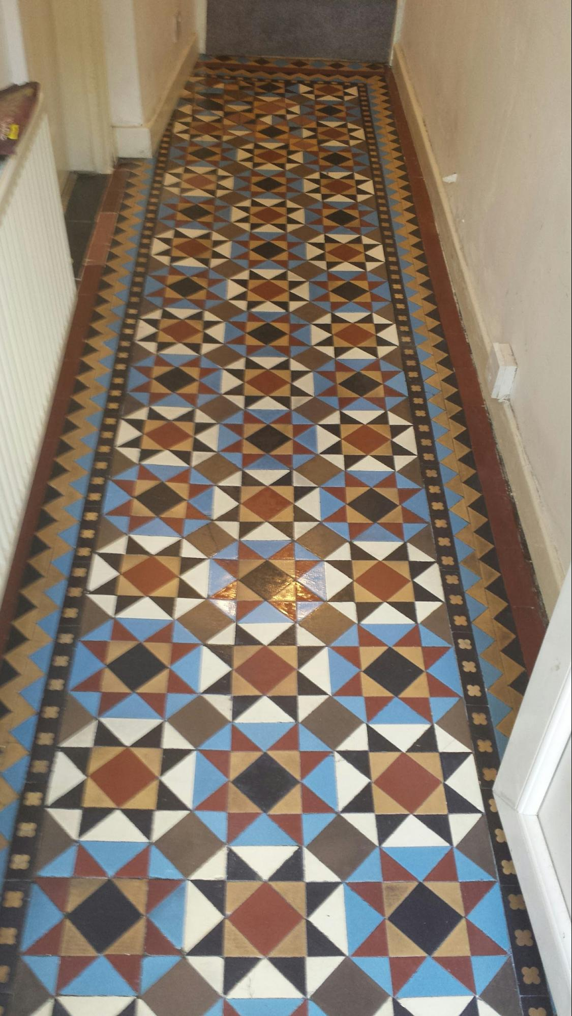 Victorian Tiles After Restorative Cleaning Stockton Heath