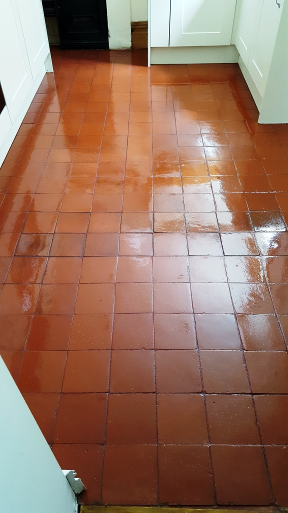 Quarry tiled floor Chester After Cleaning