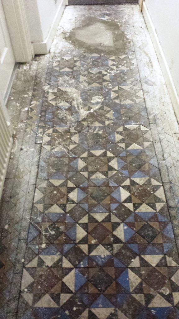 Victorian Floor Uncovered Before in Lymm