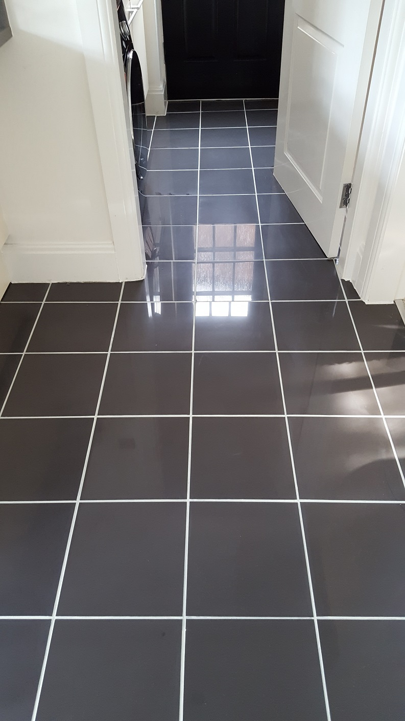 kitchen floor grout cleaner new but discoloured grout refreshed in a warrington 4780