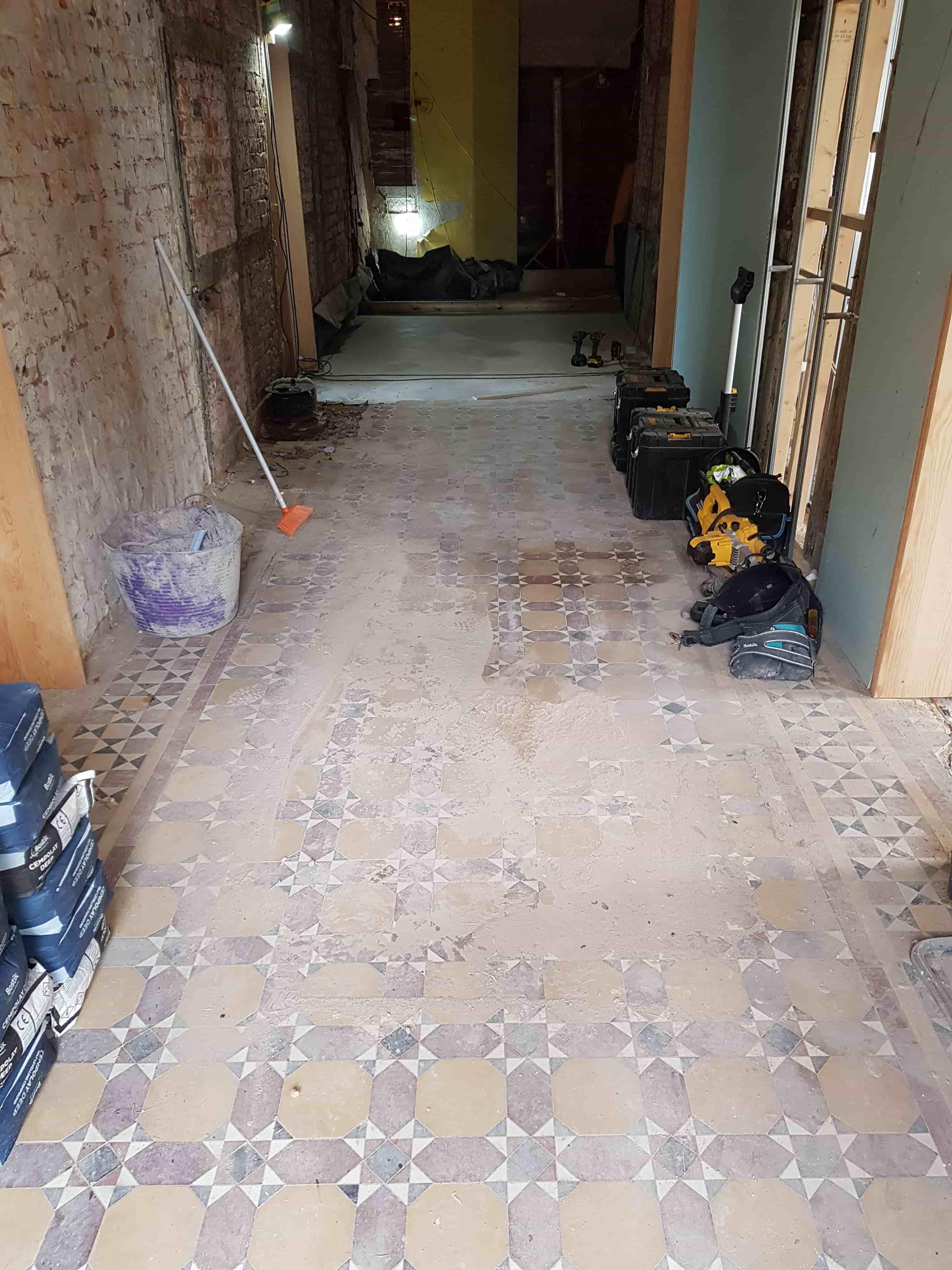 Victorian Floor Before Installaton and Restorattion Aston Park House Great Budworth Northwich